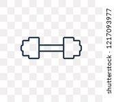 little dumbbell vector outline... | Shutterstock .eps vector #1217093977