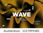 gold abstract banner with... | Shutterstock .eps vector #1217095381