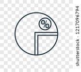 pie chart concept vector linear ...