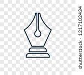 pen tool concept vector linear... | Shutterstock .eps vector #1217102434