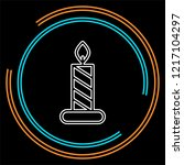 candle icon. logo element... | Shutterstock .eps vector #1217104297