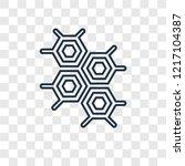 eco cell concept vector linear... | Shutterstock .eps vector #1217104387