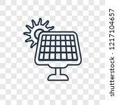 solar energy concept vector... | Shutterstock .eps vector #1217104657