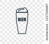 pint of beer concept vector... | Shutterstock .eps vector #1217104687