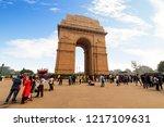 new delhi  india  october 26...   Shutterstock . vector #1217109631