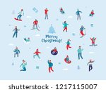 winter holidays characters.... | Shutterstock .eps vector #1217115007
