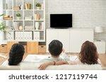 rear iiew of senior people...   Shutterstock . vector #1217119744