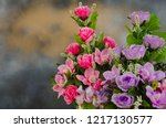 pink and violet colors of... | Shutterstock . vector #1217130577