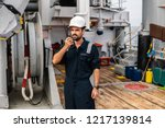 marine deck officer or chief... | Shutterstock . vector #1217139814