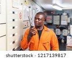african marine engineer officer ... | Shutterstock . vector #1217139817