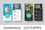 dl vector flyer design with... | Shutterstock .eps vector #1217139991