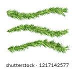 christmas tree decorations. fir ... | Shutterstock .eps vector #1217142577