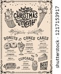 christmas menu template for... | Shutterstock .eps vector #1217153917