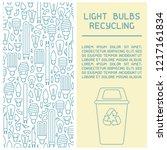 light bulbs recycling info... | Shutterstock .eps vector #1217161834