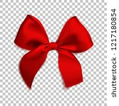 Realistic Red Bow Isolated On...