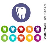 canine tooth icon. simple... | Shutterstock . vector #1217184571