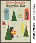 mid century modern merry... | Shutterstock .eps vector #1217190067