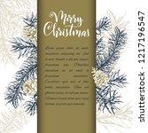christmas sketch hand drawn... | Shutterstock .eps vector #1217196547
