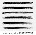 set of grunge brushes.vector... | Shutterstock .eps vector #1217197357