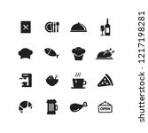 cafe and restaurant icon set | Shutterstock .eps vector #1217198281