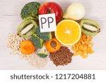 nutritious different natural... | Shutterstock . vector #1217204881