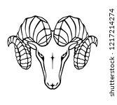 aries graphic icon. head ram... | Shutterstock .eps vector #1217214274