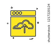 web layouts icon design vector | Shutterstock .eps vector #1217220124