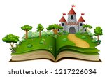 Story Book With A Castle And...