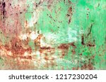 rusty painted metal texture ...   Shutterstock . vector #1217230204