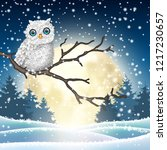 christmas motive  cute white... | Shutterstock .eps vector #1217230657