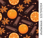 Seamless Pattern With Mulled...