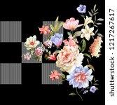 silk scarf design  fashion...   Shutterstock . vector #1217267617