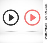 play video vector icon | Shutterstock .eps vector #1217269831