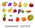 fruit illustration | Shutterstock . vector #1217273