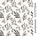 winter floral seamless pattern. ... | Shutterstock .eps vector #1217273344