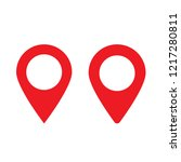 red maps pin. location map icon.... | Shutterstock .eps vector #1217280811