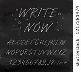 hand drawn font made by ink... | Shutterstock .eps vector #1217281474