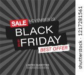 black friday sale banner and... | Shutterstock .eps vector #1217281561