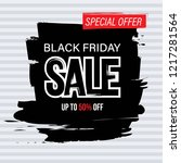 black friday sale banner and... | Shutterstock .eps vector #1217281564