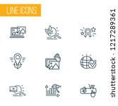 engine icons line style set... | Shutterstock .eps vector #1217289361