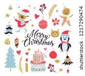 christmas  new year design... | Shutterstock .eps vector #1217290474