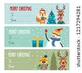 cute flat design christmas... | Shutterstock .eps vector #1217294281