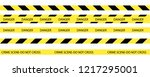 vector set of seamless tapes.... | Shutterstock .eps vector #1217295001