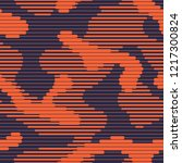 linear camouflage seamless...   Shutterstock .eps vector #1217300824