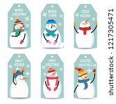 christmas labels collection... | Shutterstock .eps vector #1217305471