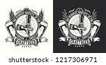 beer emblem on a light and dark ... | Shutterstock .eps vector #1217306971