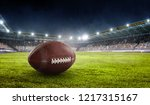 rugby game concept. mixed media | Shutterstock . vector #1217315167