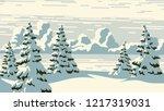 horizontal vector illustration... | Shutterstock .eps vector #1217319031