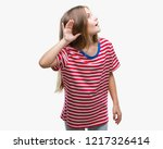young beautiful girl over... | Shutterstock . vector #1217326414