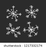 hand drawn set of vintage... | Shutterstock .eps vector #1217332174